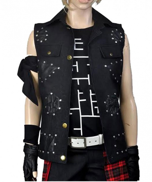 Final Fantasy Xv Prompto Argentum Black Studded Vest