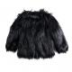 Kids Black Faux Fur Jacket