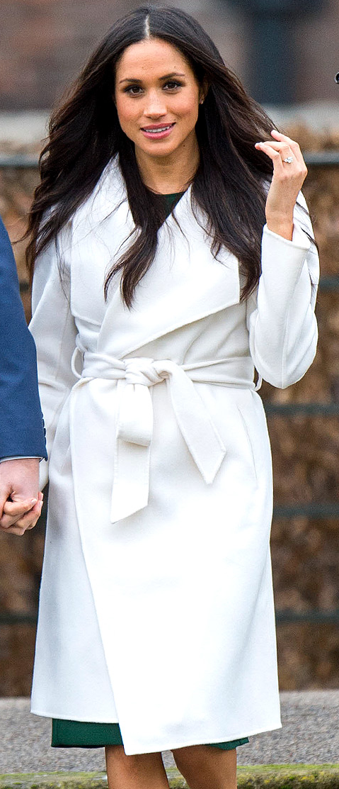Line The Label Mara Meghan Whites Wrap Coat
