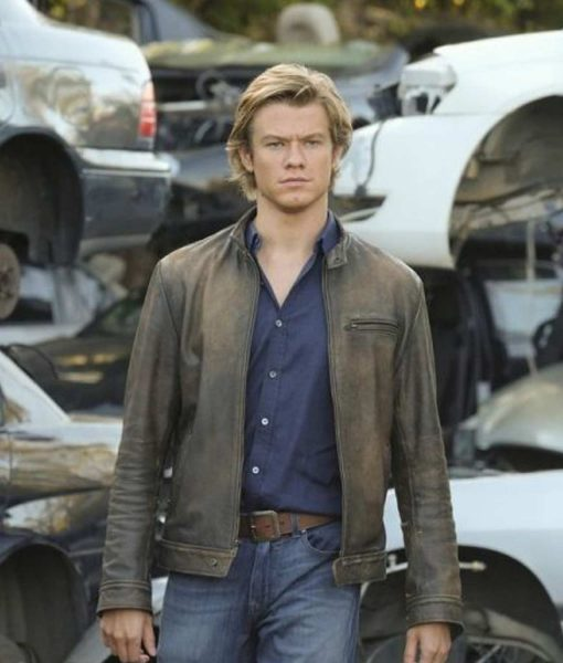Lucas Till Angus Macgyver Leather Jacket