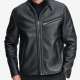 Macy's Full-zip Moto Leather Jacket