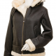 Marilyn Dark Brown Shearling Leather Jacket