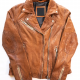Mauritius Maysie Peace Sign Leather Jacket