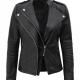 Monica Asymmetrical Leather Jacket