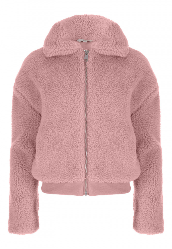 Older Girls Pink Teddy Jacket