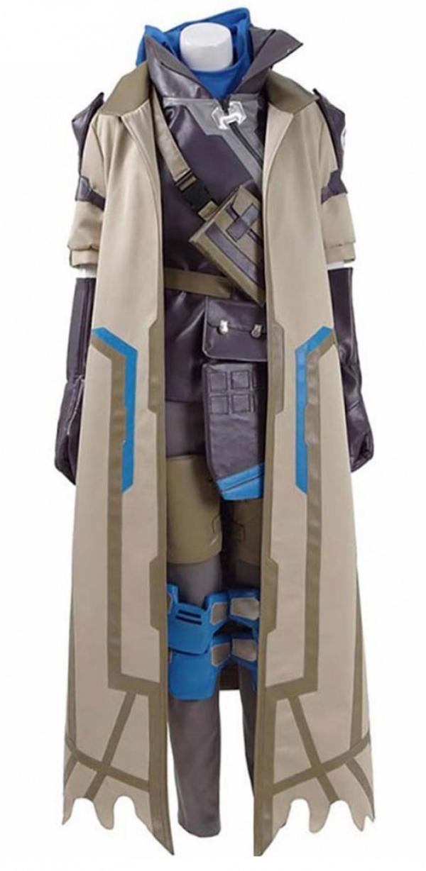 Overwatch Ana Costume Leather Coat