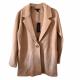 Rachel Zoe Camel Single Button Wool Coat