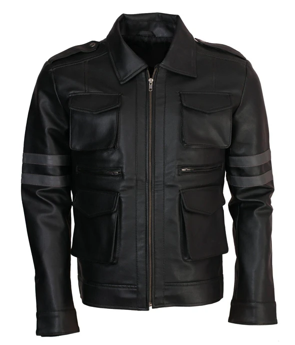 Resident Evil Black Cosplay Leather Jacket