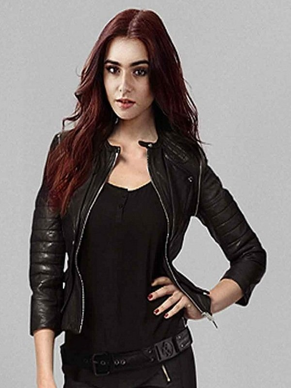 Shadowhunters The Mortal Instruments Clary Fray Leather Jacket