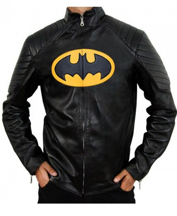 The Classic Batman Logo Leather Jacket