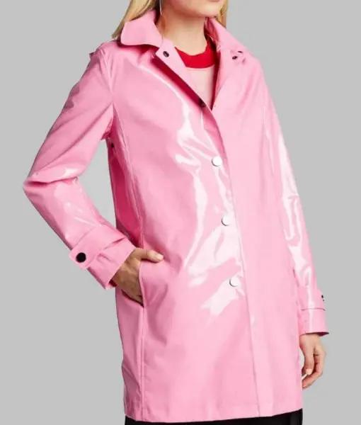 The Today Show Savannah Guthrie Pink Rain Coat