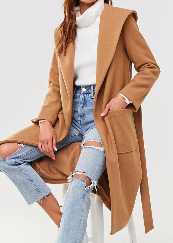 Womens Wrap Duster Coat