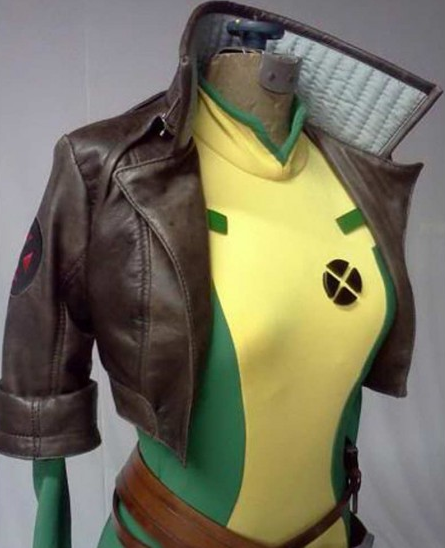 X-men Rogue Brown Cropped Leather Jacket