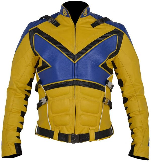 X-men X Ps V3 Blue & Yellow Muscles Leather Jacket