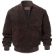 Adamsville Dark Brown Bomber Suede Leather Jacket