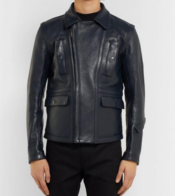 Andres V. Leonard Biker Leather Jacket