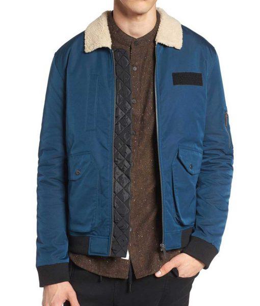 Arrow Rick Gonzalez Blue Fur Collar Jacket