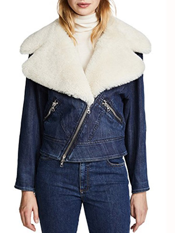 Ava Jalali The Perfectionists Jacket With Fur Collar