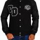 Big Boss Varsity Letterman Black Jacket