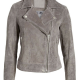Blank Nyc Grey Suede Leather Jacket