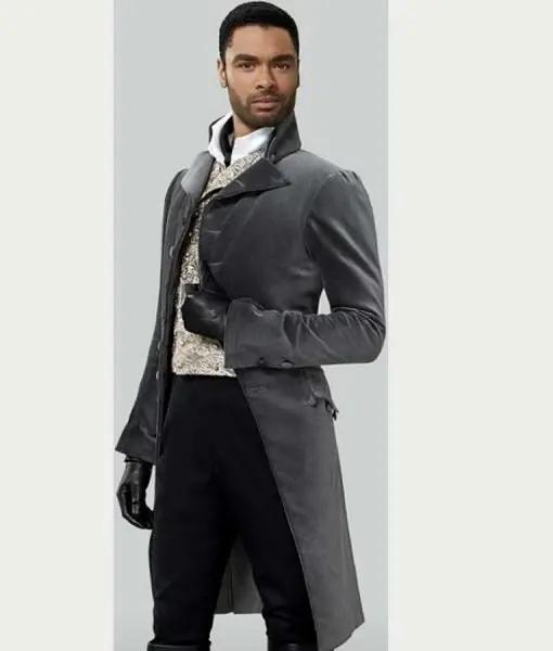 Bridgerton Simon Basset Grey Cotton Tailcoat