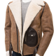 Brown Sheepskin Biker Leather Jacket