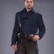 Bucky Barnes WW2 Blue Leather Jacket