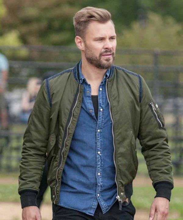 Chicago P.D. Adam Ruzek TV Series Satin Jacket