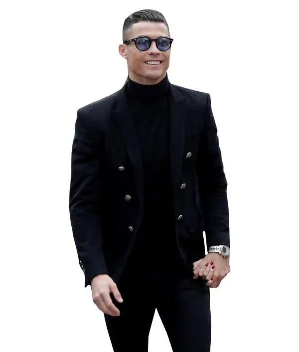 Cristiano Ronaldos Black Wool Blazer