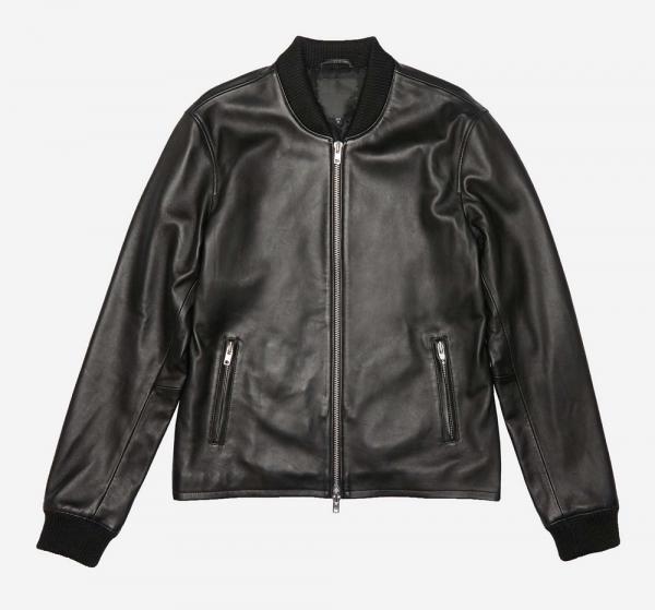 Dstld Bomber Leather Jacket