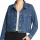 Eileen Fisher Organic Stretch Cropped Denim Jacket