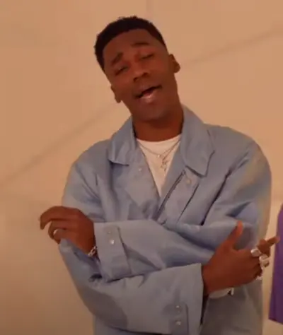 Giveon Pastel Blue Cotton Jacket