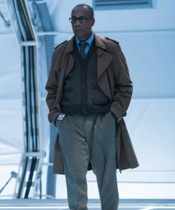 Justice League Silas Stone Brown Trench Coat