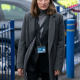 Kelly Macdonalds The Line of Duty Grey Wool Coat