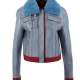 Love Life Sara Yang Shearling Collar Leather Jacket
