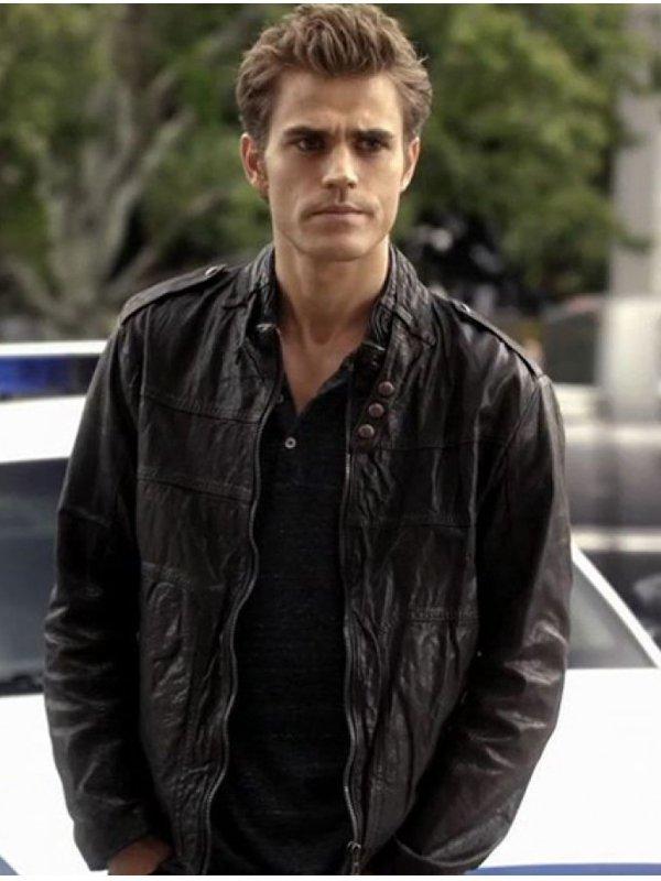 Paul Wesley The Vampire Diaries Leather Jacket