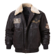 Pierson Shearling Collar Bomber Leather Jacket