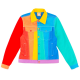 Rainbow Denim Molded Mokuyobi Jacket