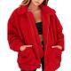 Red Faux Fur Teddy Bear Jacket