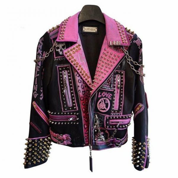 Singer Kindness Punk Lady Gaga Leather Jacket