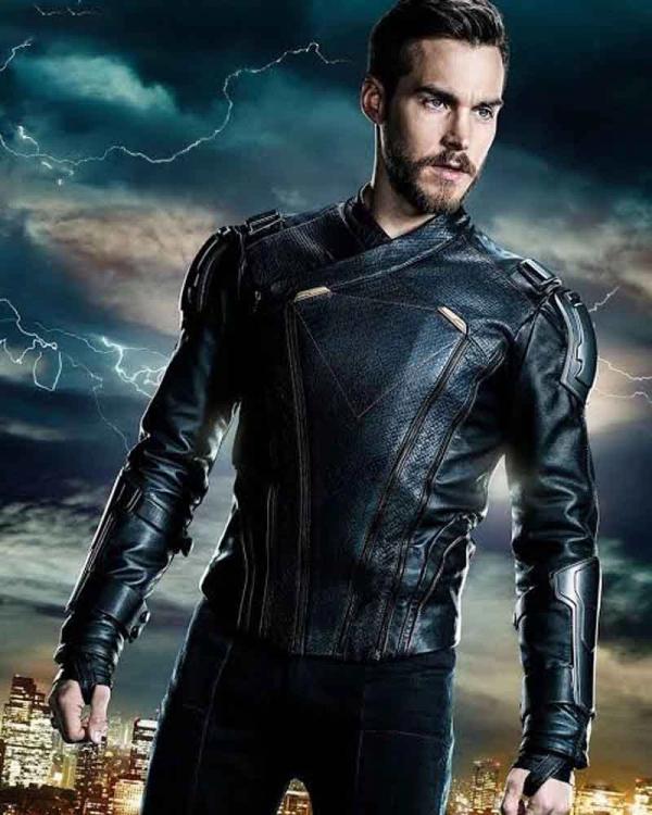 Supergirl Mon-El TV Series Chris Wood Leather Jacket