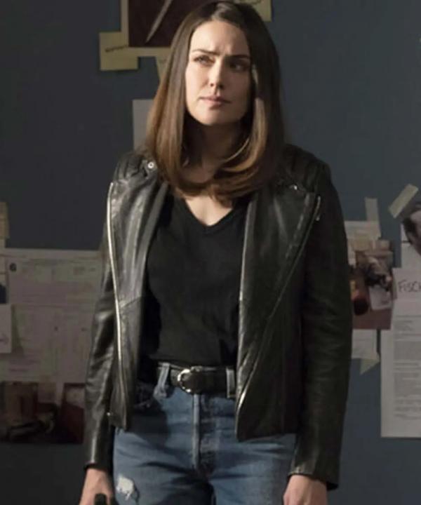 The Blacklist Elizabeth Keen Motorcycle Leather Jacket