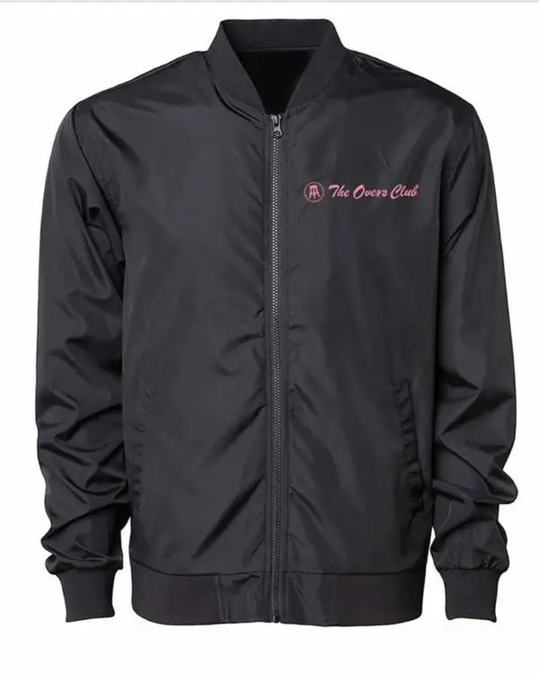 The Overs Club Satin Bomber Jacket
