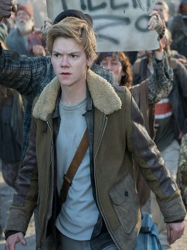 Thomas Brodie Maze Runner Newt Fur Jacket