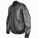 Us Air Force Military Ma1 Flight Pilot Bomber Black Leather Jacket