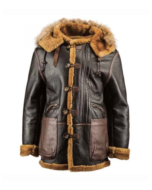 WWII B-7 Flying Parka Leather Jacket