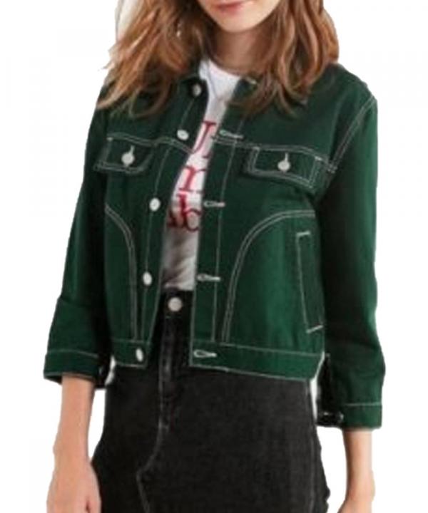 9-1-1 May Grant Green Denim Jacket