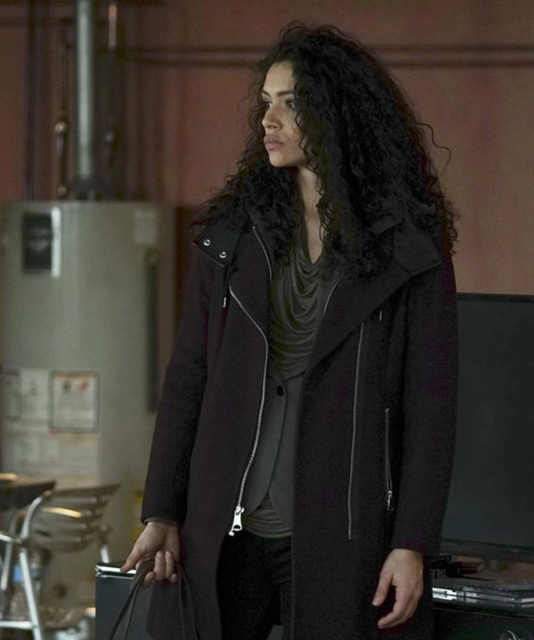 Chicago Fire Stella Kidd Suede Leather Coat