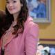 Clara Stanto When Calls The Heart Eva Bourne Pink Wool Coat