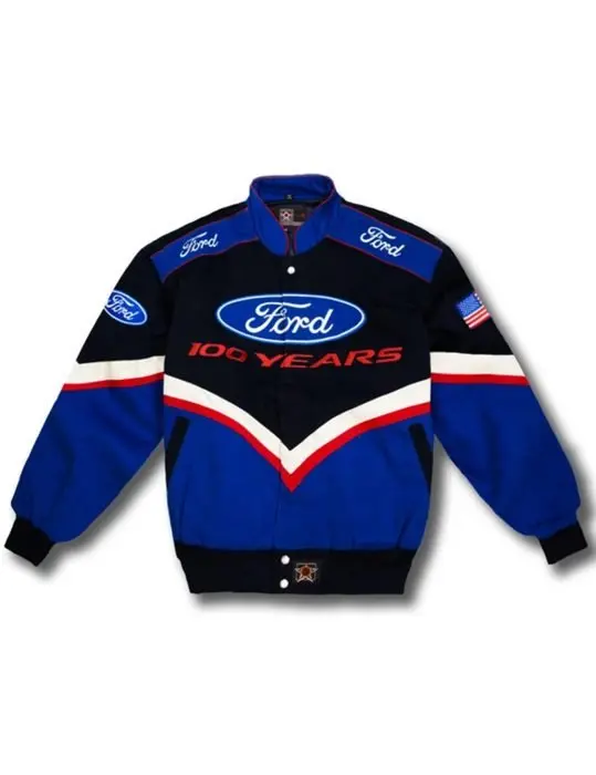 Ford Motor Racing Leather Jacket